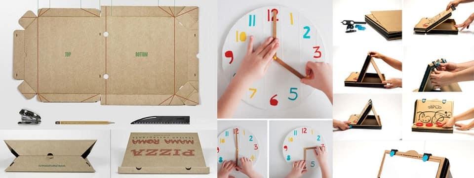 Astuces DIY pour recycler une boite de pizza vide