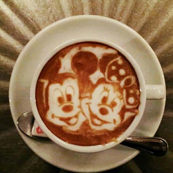 Mickey et Minnie - Latte Art