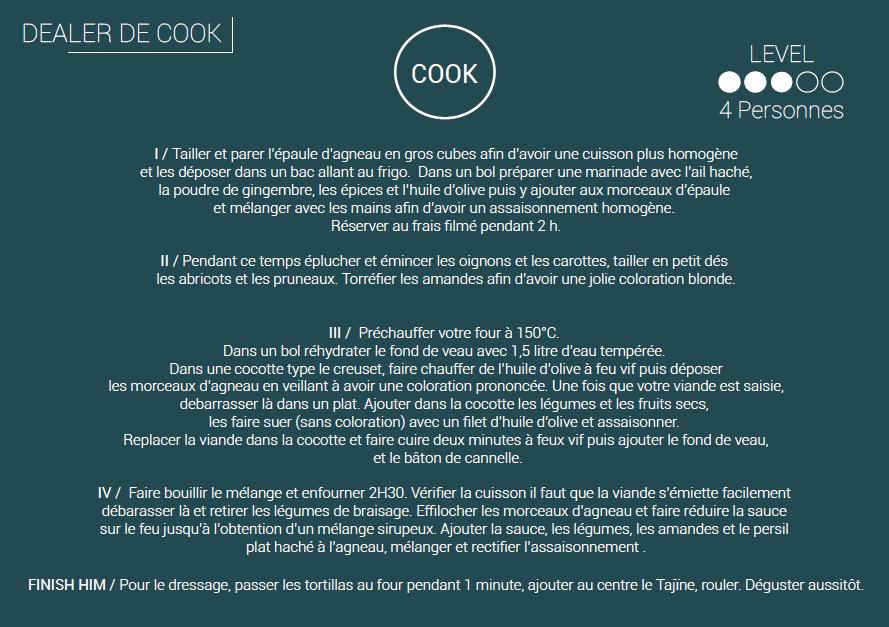 dealer de cook recette