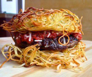 burger spaghetti what the food