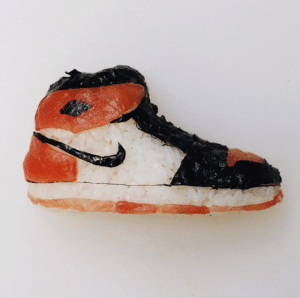 sneakers sushis what the food