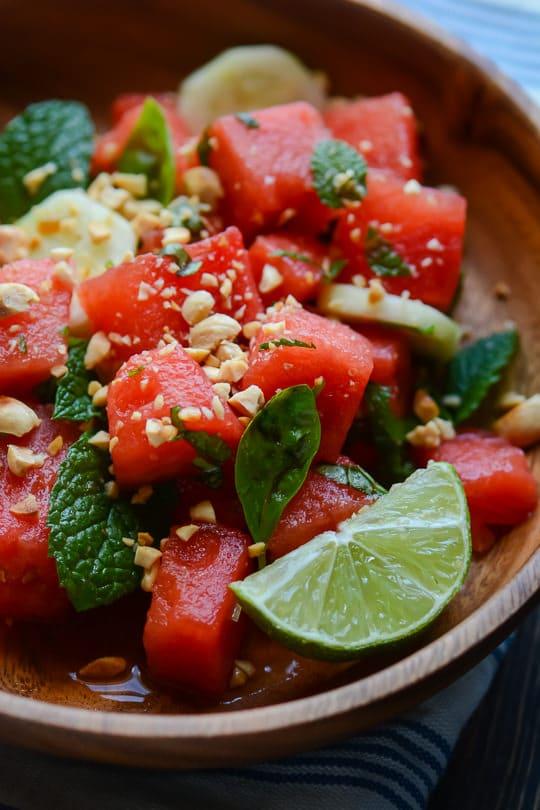 salade thai pastèque
