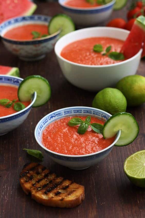 pastèque gaspacho